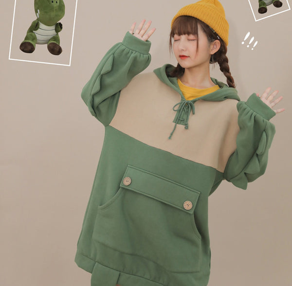 Lovely Green Monster Hoodie JK1945
