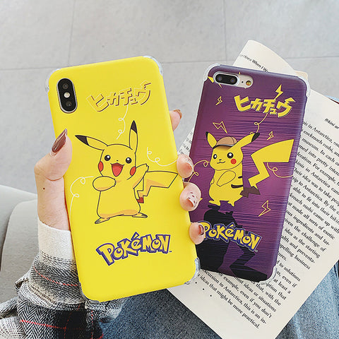 Kawaii Pikachu Phone Case for iphone 6/6s/6plus/7/7plus/8/8P/X/XS/XR/XS Max JK1612