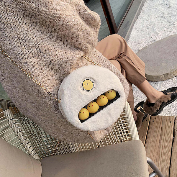 Lovely Round Plush Chick Shoulder Bag JK2037