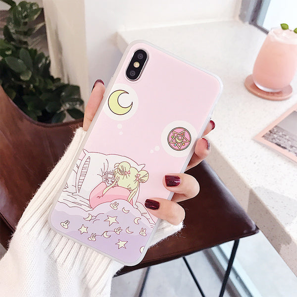 Sailormoon Usagi Phone Case for iphone 6/6s/6plus/7/7plus/8/8P/X/XS/XR/XS Max JK1235