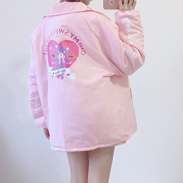 Pink Sweet Bear Coat JK1768