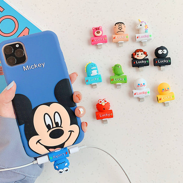 Cartoon and Unicorn Earphone Wire Adapter For Iphone JK1886