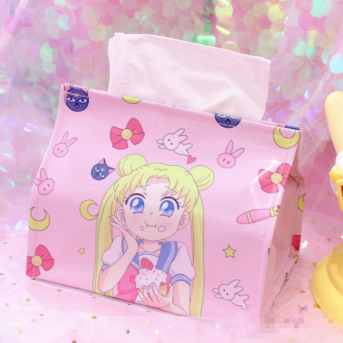 Sailormoon and Sakura Tissue Box JK1029