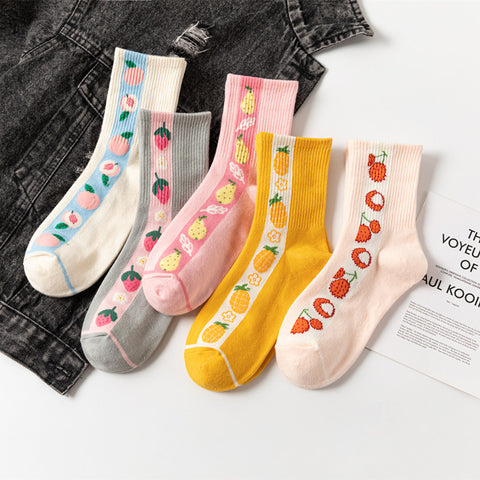 Lovely Fruits Socks JK2348