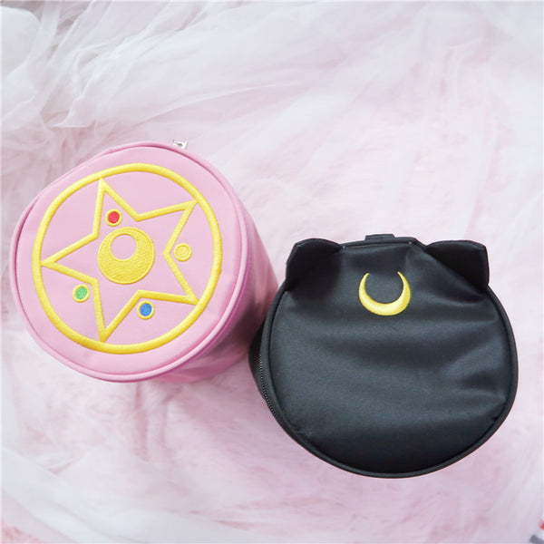 Round Luna Makeup Bag JK1271