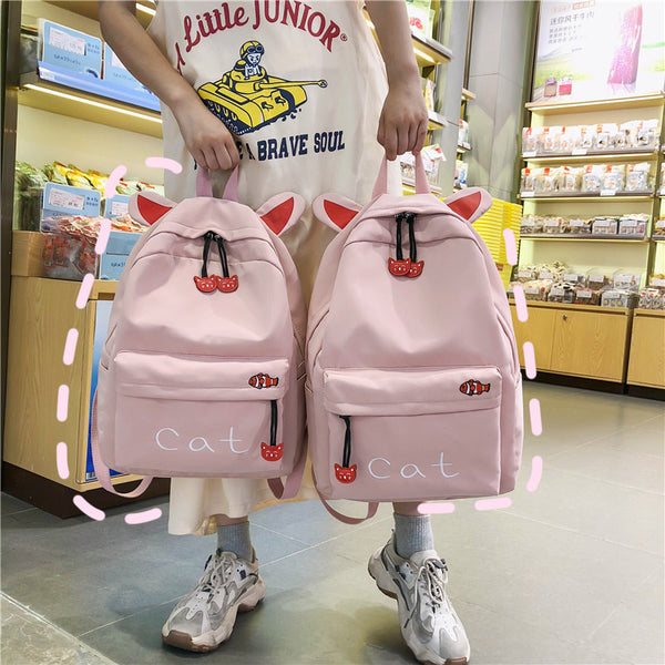 Lovely Cat Backpack JK2307