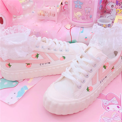 Cute Strawberry Canvas Shoes  JK2429