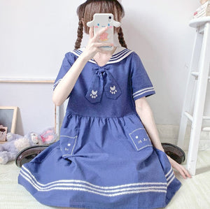 Lovely Cat Navy Dress JK2747