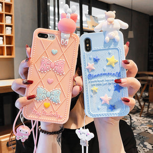 Cute My Melody Phone Case for iphone 6/6s/6plus/7/7plus/8/8P/X/XS/XR/XS Max JK1526