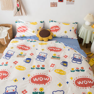 Fashion Bears Four Piece-suit Bedding JK2281