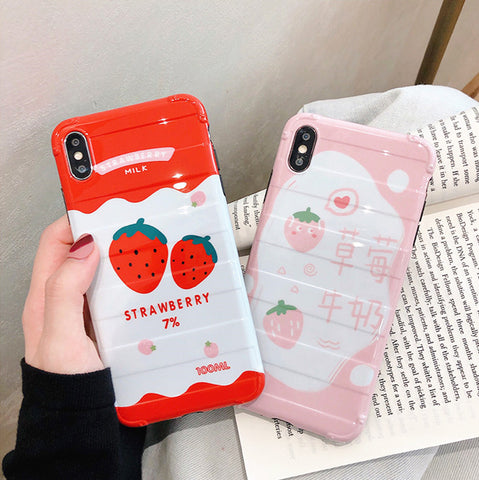 Strawberry Phone Case for iphone 6/6s/6plus/7/7plus/8/8P/X/XS/XR/XS Max JK2019