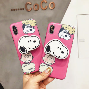 Snoopy Phone Case for iphone 6/6s/6plus/7/7plus/8/8P/X/XS/XR/XS Max JK1479