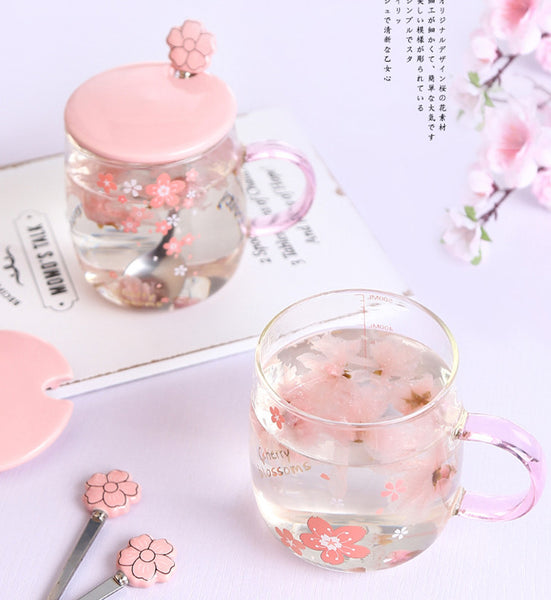 Cute Sakura Glass Cup JK2450