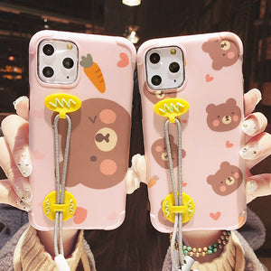 Cartoon Bear Phone Case for iphone7/7plus/8/8P/X/XS/XR/XS Max/11/11 pro/11 pro max JK2002