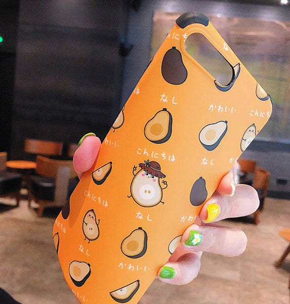 New Style Avocado Phone Case for iphone 6/6s/6plus/7/7plus/8/8P/X/XS/XR/XS Max JK1583
