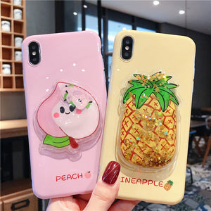 Pineapple and Peach Phone Case for iphone 6/6s/6plus/7/7plus/8/8P/X/XS/XR/XS Max JK1617