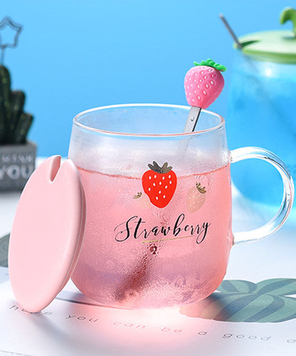 Sweet Strawberry Glass Cup JK2147