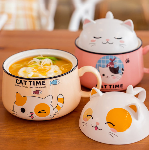 Lovely Cats Printed Bowl JK2544