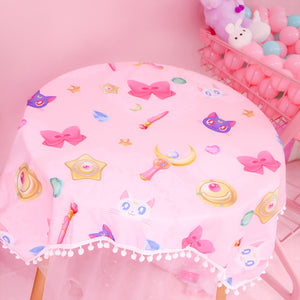 Cute Luna Table Cloth JK1355
