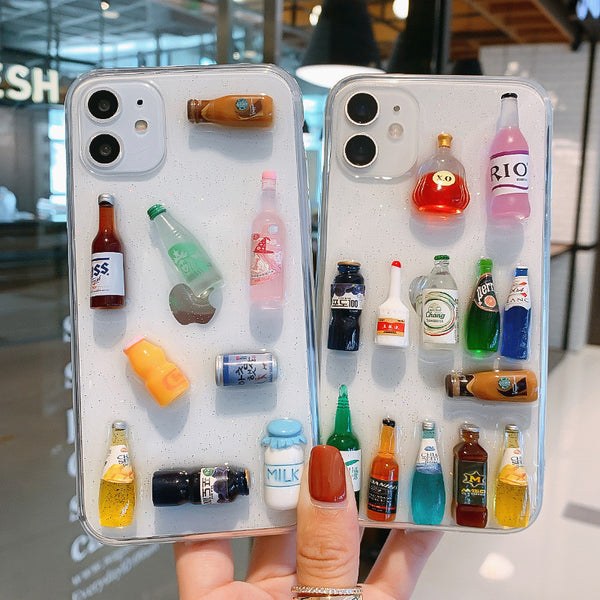 Cute Bottles Phone Case for iphone 6/6s/6plus/7/7plus/8/8P/X/XS/XR/XS Max/11/11 pro/11 pro max JK2131