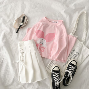 Fashion Pig T-Shirt  Skirt Set JK1396