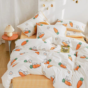 Lovely Rabbit Carrot Four Piece-suit Bedding JK2208