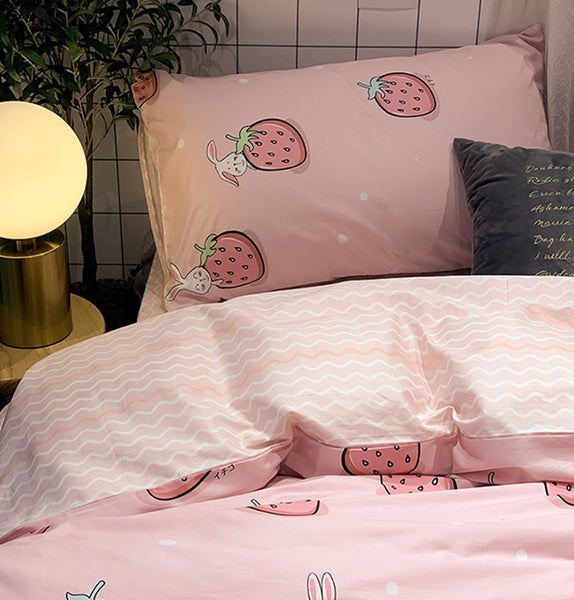 Cute Strawberry Bedding Set JK2212