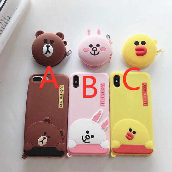 Brown and Cony Phone Case for iphone 6/6s/6plus/7/7plus/8/8P/X/XS/XR/XS Max JK1708