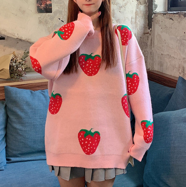 Fashion Strawberry Sweater JK1958