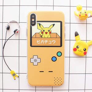 Happy Pikachu Phone Case for iphone 6/6s/6plus/7/7plus/8/8P/X/XS/XR/XS Max JK1131