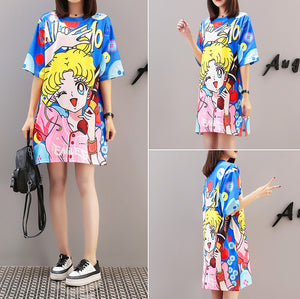 Fashion Sailormoon Long T-shirt JK1410