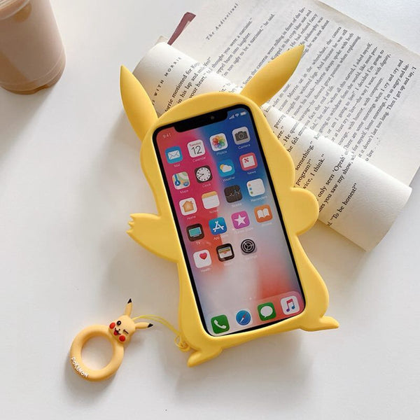 Lovely Pikachu Phone Case for iphone 6/6s/6plus/7/7plus/8/8P/X/XS/XR/XS Max JK1699
