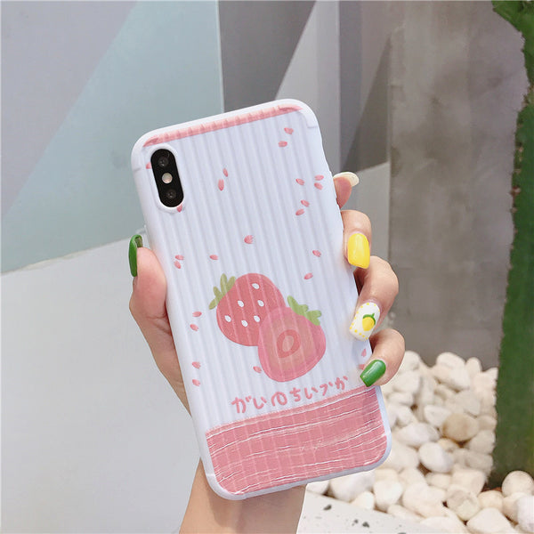 Fashion Strawberry Phone Case for iphone 6/6s/6plus/7/7plus/8/8P/X/XS/XR/XS Max JK1556