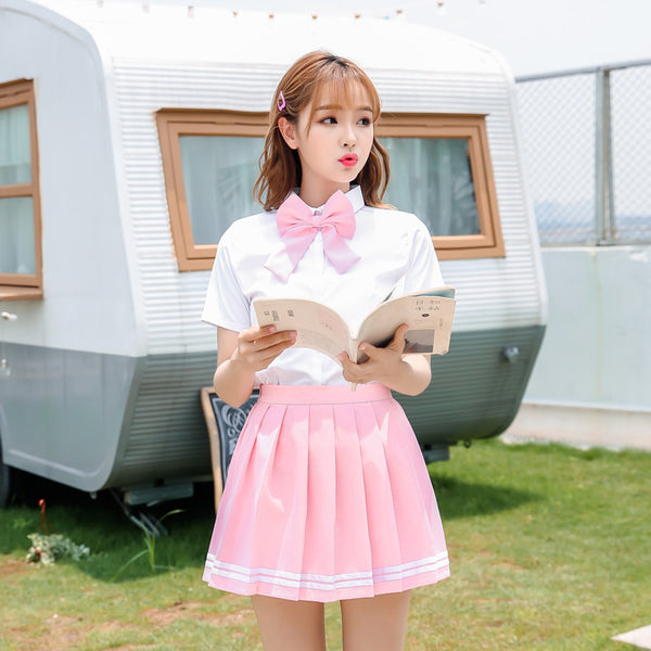 Fashion Pink Sweet T-shirt and Skirt JK1585