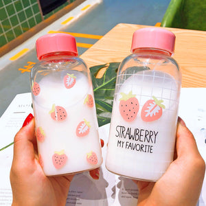 Fashion Strawberry Water Bottle  JK1245