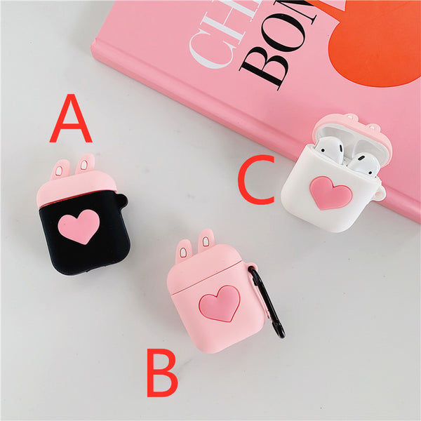 Lovely Heart Airpods Protector JK1598