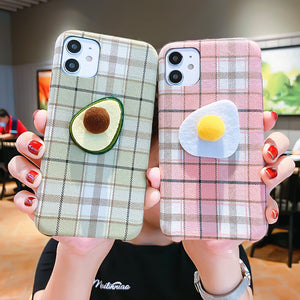 Avocado and Egg Phone Case for iphone 6/6s/6plus/7/7plus/8/8P/X/XS/XR/XS Max/11/11 pro/11 pro max JK2456