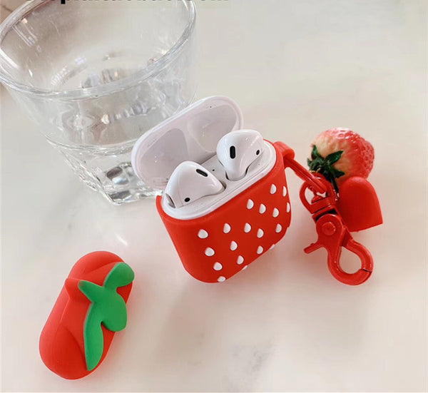 Red Strawberry Airpods Protector Case JK1351