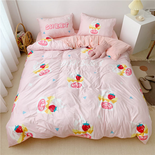 Cute Strawberry Bedding Set JK1903