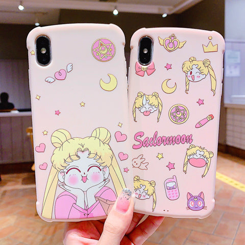Pink Usagi Phone Case for iphone 6/6s/6plus/7/7plus/8/8P/X/XS/XR/XS Max JK1690