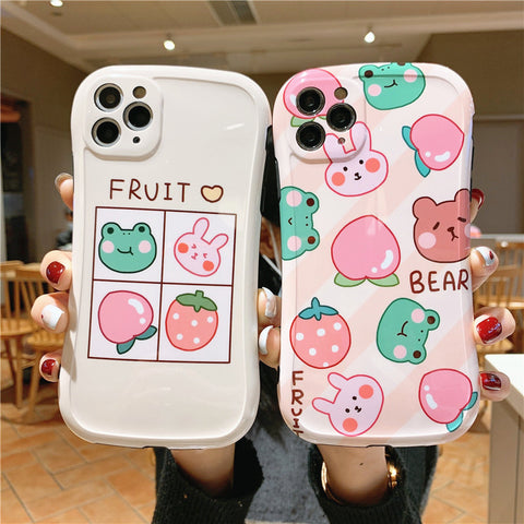 Cartoon Bear and Rabbit Phone Case for iphone7/7plus/8/8P/X/XS/XR/XS Max/11/11 pro/11 pro max JK2089