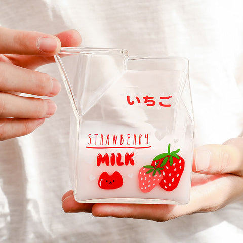 Strawberry and Peach Glass Cup JK2559