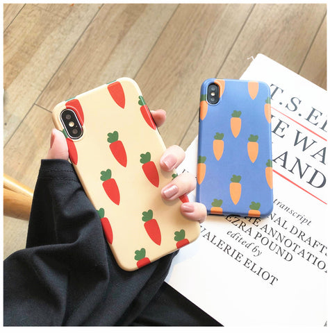 Lovely Carrots Phone Case for iphone 6/6s/6plus/7/7plus/8/8P/X/XS/XR/XS Max JK1198