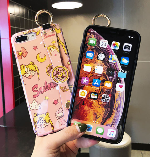 Sailormoon Wristband Phone Case for iphone 6/6s/6plus/7/7plus/8/8P/X/XS/XR/XS Max JK1623