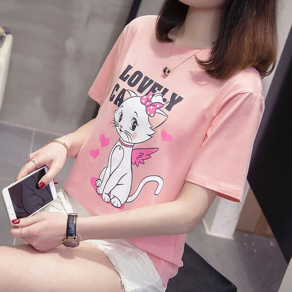 Lovely Cats Girl T-Shirt  JK1436