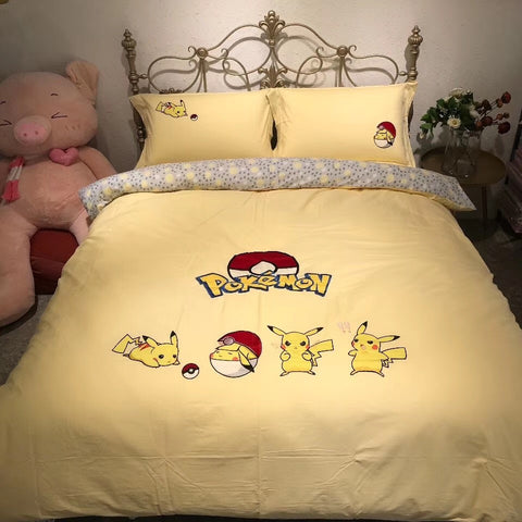 Lovely Pikachu Four Piece-suit Bedding JK2006