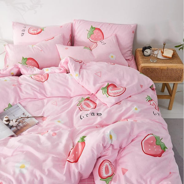 Fashion Strawberry Four Piece-suit Bedding JK2025