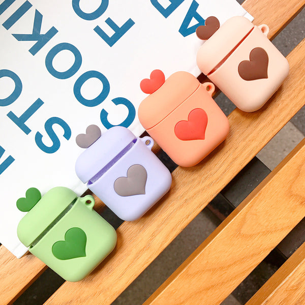 Lovely Heart Airpods Protector JK1244