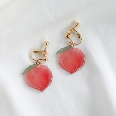 Cute Peach Earrings/Clips JK2221