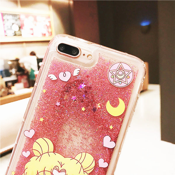 Quicksand Usagi Phone Case for iphone 6/6s/6plus/7/7plus/8/8P/X/XS/XR/XS Max JK1207